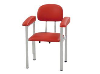 Blutentnahmestuhl belastbar bis 150 kg, rot 1x1 items