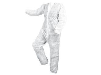 Healthgard® Schutzoverall Herren weiß, non woven, beschichtet 1x1 Stück