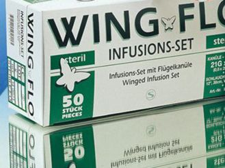 Wingflo wing cannula, 21G, 0.8 x 19 mm, green 1x50 items
