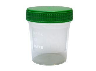 Urinbecher 120 ml mit Schraubdeckel 1x50 Stück