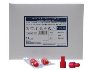 Combi plug red 1x100 items