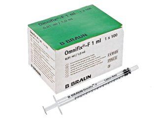 Omnifix®-F Solo ohne Kanüle, 1 ml, 1x100 Stück