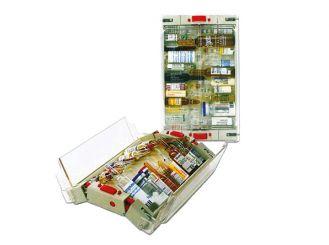 Mobiler Ampullen-Spender beige/glasklar 1x1 Stück