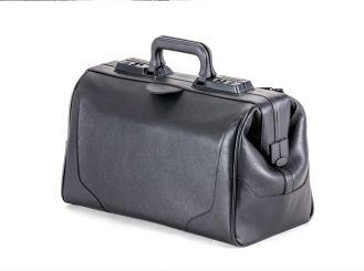 Arzttasche Rusticana, Rindleder, schwarz, 1 Vortasche, Großformat 1x1 items