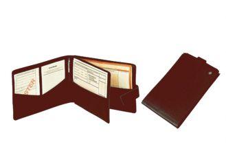 Rezept-Formularmappe Leder bordeaux, 1x1 Stück