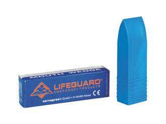 Beißschutz-Mundkeil Kunststoff, konisch Farbe: blau 1x1 items