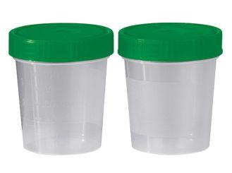 Urinbecher 125 ml mit Schraubdeckel grün 1x500 Stück
