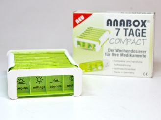 ANABOX Compact 7 Tage Wochendosierer gelbgrün 1x1 Stück
