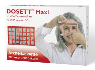 Dosett® Maxi Arzneikasette rot 20 x 13 x 3 cm 1x1 Stück