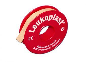 Leukoplast® Rollenpflaster 5m x 1,25 cm hautfarben ohne Schutzring 1x24 Role