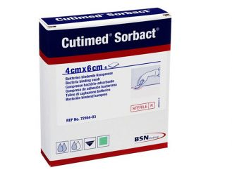 Cutimed® Sorbact® 4 x 6 cm Kompresse, latexfrei, 1x6 Stück