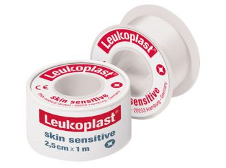 Leukoplast® skin sensitive, Rollenpflaster 1,25cm x 2,6m - im Schutrzring, 1x24 Stück