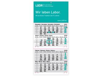 LADR 4-Monatswandkalender 2020 1x1 Stück